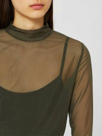 Selected Femme Mesh- Oberteil mit langen Ärmeln