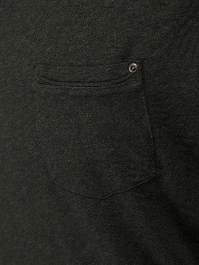 Jack & Jones Melange T-Shirt mit langen Ärmeln