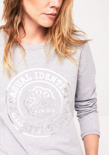 COMMA Klassischer Sweater mit Frontprint