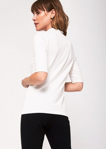 COMMA Jerseyshirt mit kurzen Ärmeln