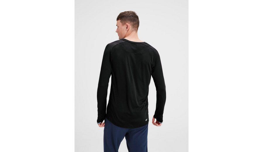 Jack & Jones Tech Sportliches T-Shirt mit langen Ärmeln Rabatt-Shop Für Finden Große Günstig Online Rabatt Ausgezeichnet Billig Verkauf Kosten Freies Verschiffen Billig Qualität EQKbi