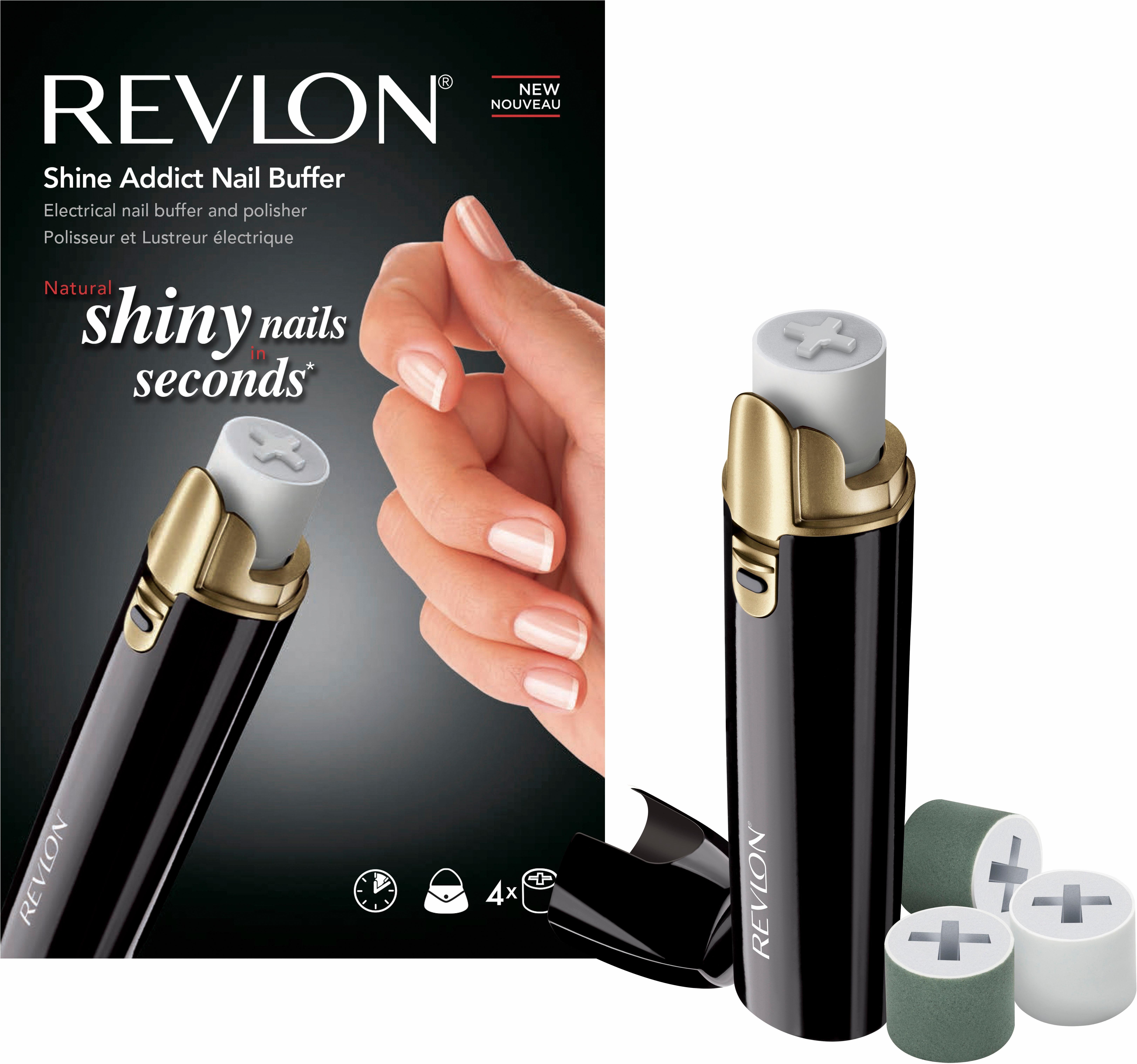 Revlon® Pediküre/Maniküre-Gerät SHINE ADDICT elektr. Nagelpolierer, lang anhaltend glänzende N