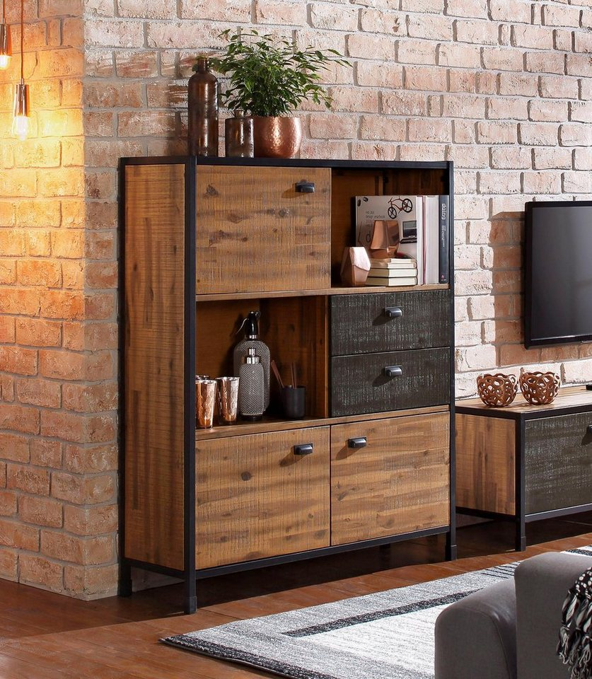 home affaire highboard soho breite 120 cm otto. Black Bedroom Furniture Sets. Home Design Ideas