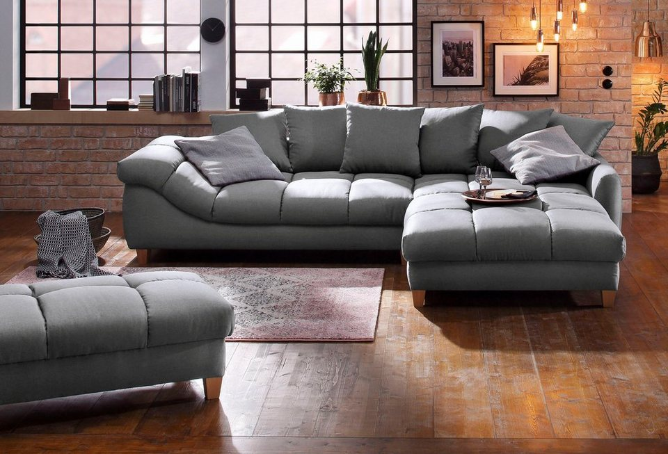 home affaire ecksofa montego montana mit maxi recamiere und komfort sitzh he online kaufen otto. Black Bedroom Furniture Sets. Home Design Ideas