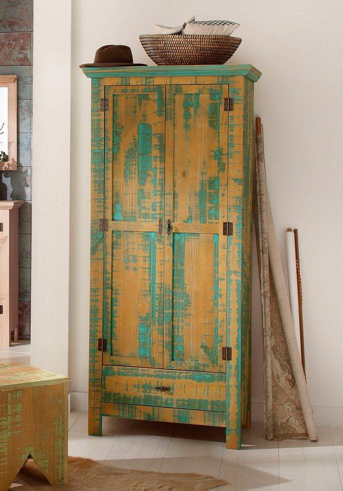 home affaire garderobenschrank 2 trg molly aus massiver. Black Bedroom Furniture Sets. Home Design Ideas