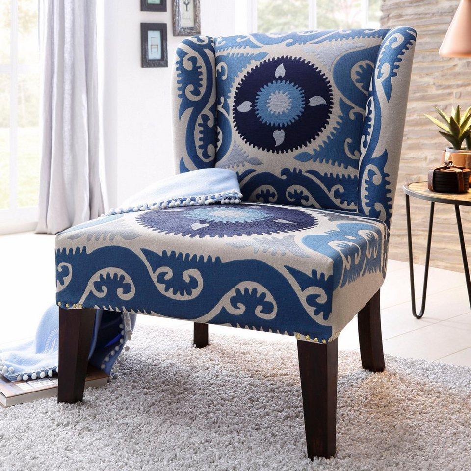 home affaire sessel sky strukturstoff baumwolle mit. Black Bedroom Furniture Sets. Home Design Ideas