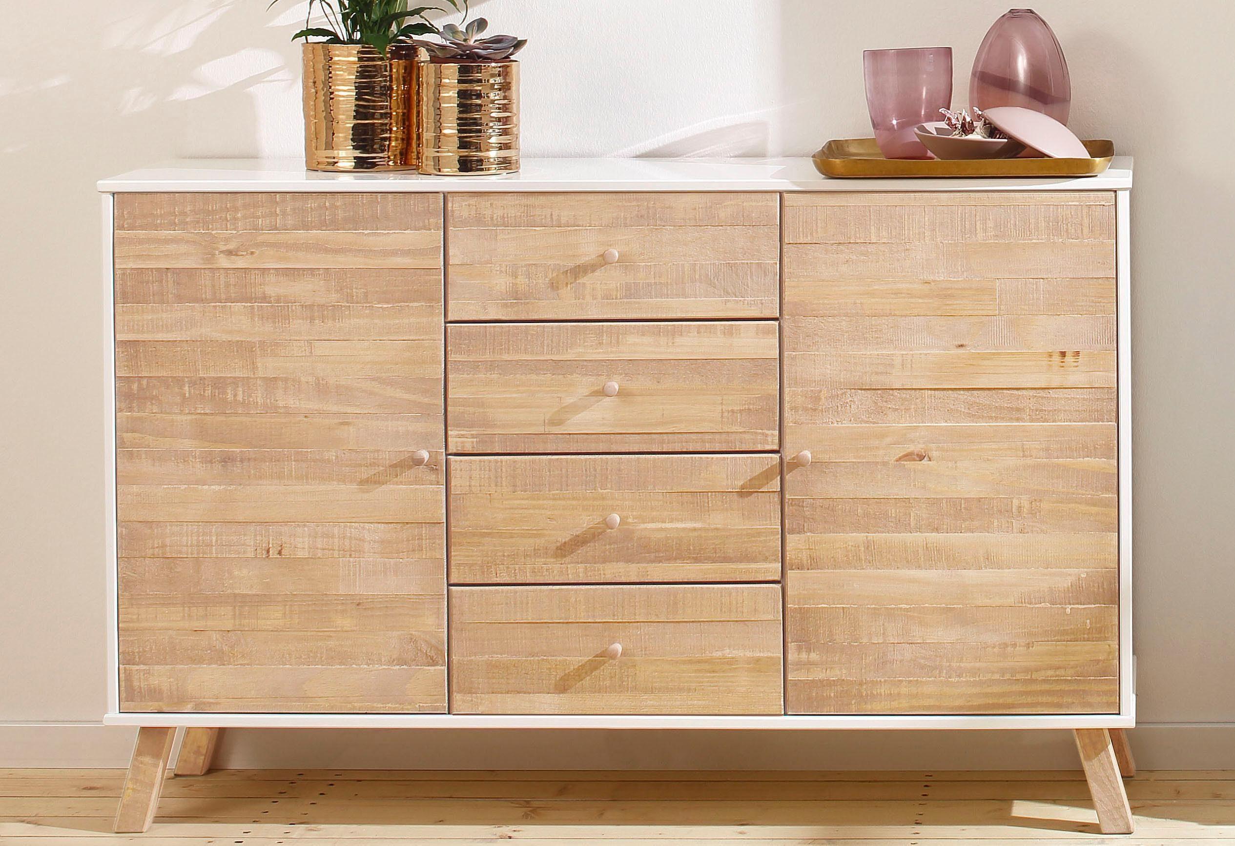 Home affaire Sideboard »Rondo«, Breite 130 cm, mit 4 Schubladen