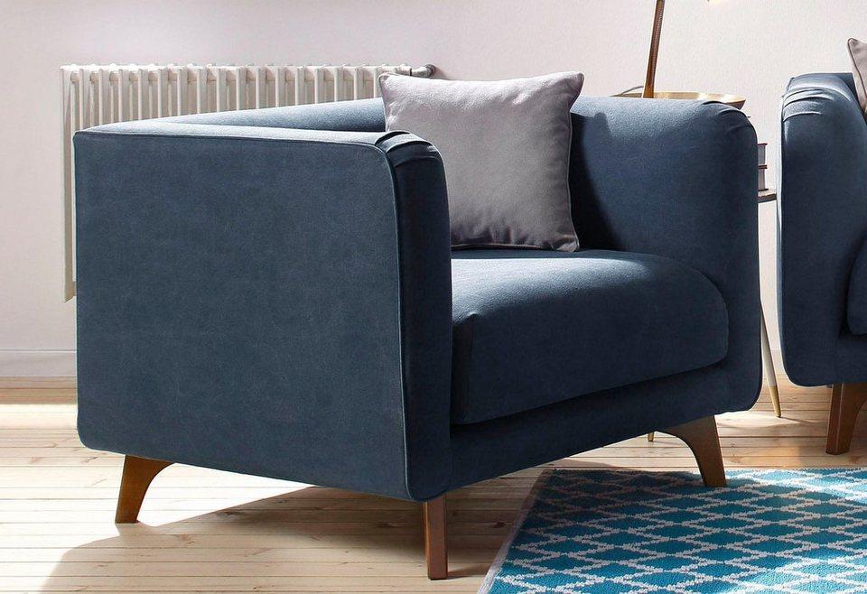 Home affaire Sessel »Maja«, in skandinavischem Design mit Zierkissen ...