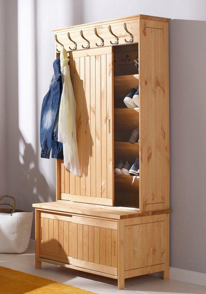 home affaire kompaktgarderobe mia aus massiver kiefer. Black Bedroom Furniture Sets. Home Design Ideas