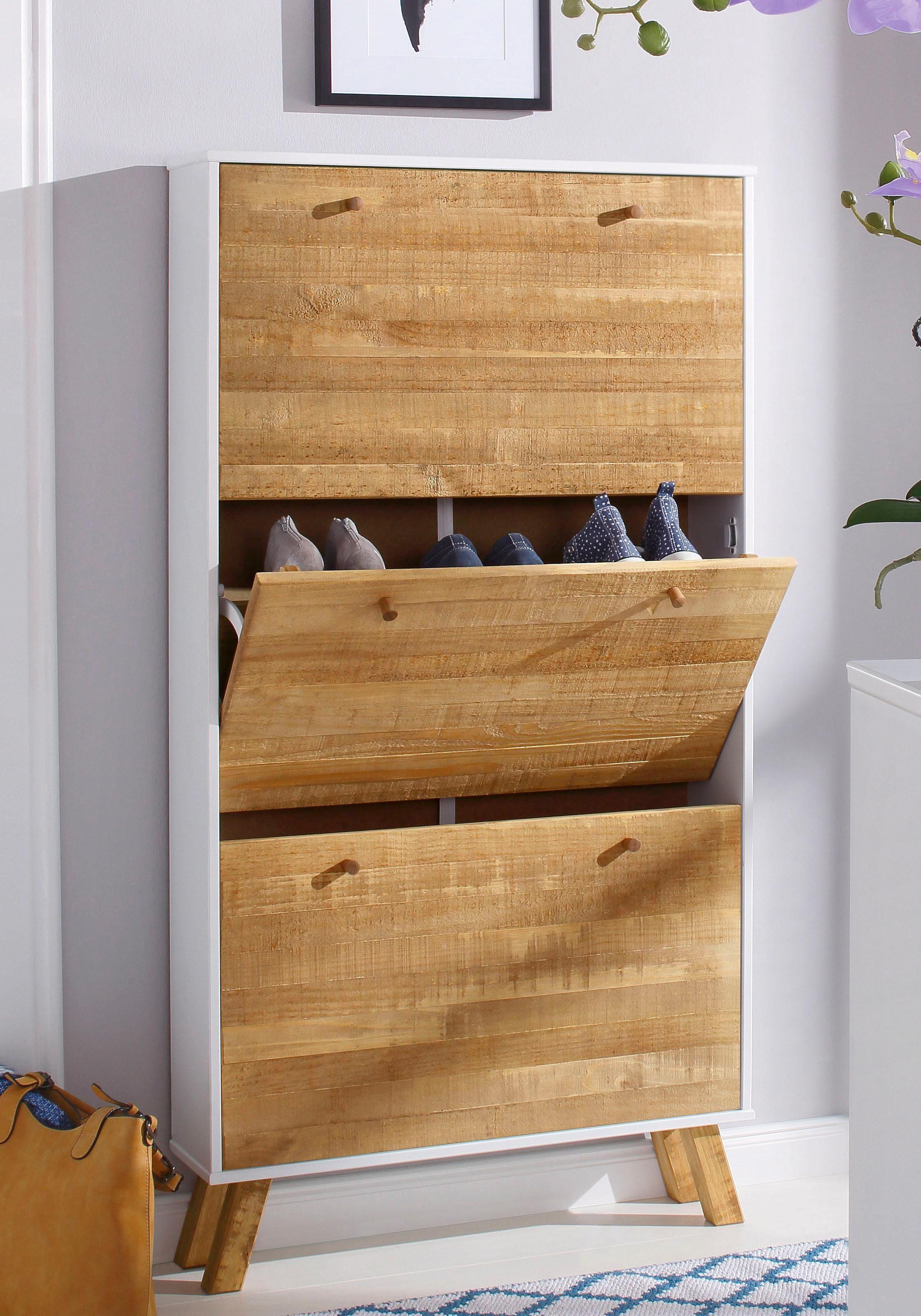 Home affaire Schuhschrank «Rondo», mit 3 Klappen, Breite 75 cm