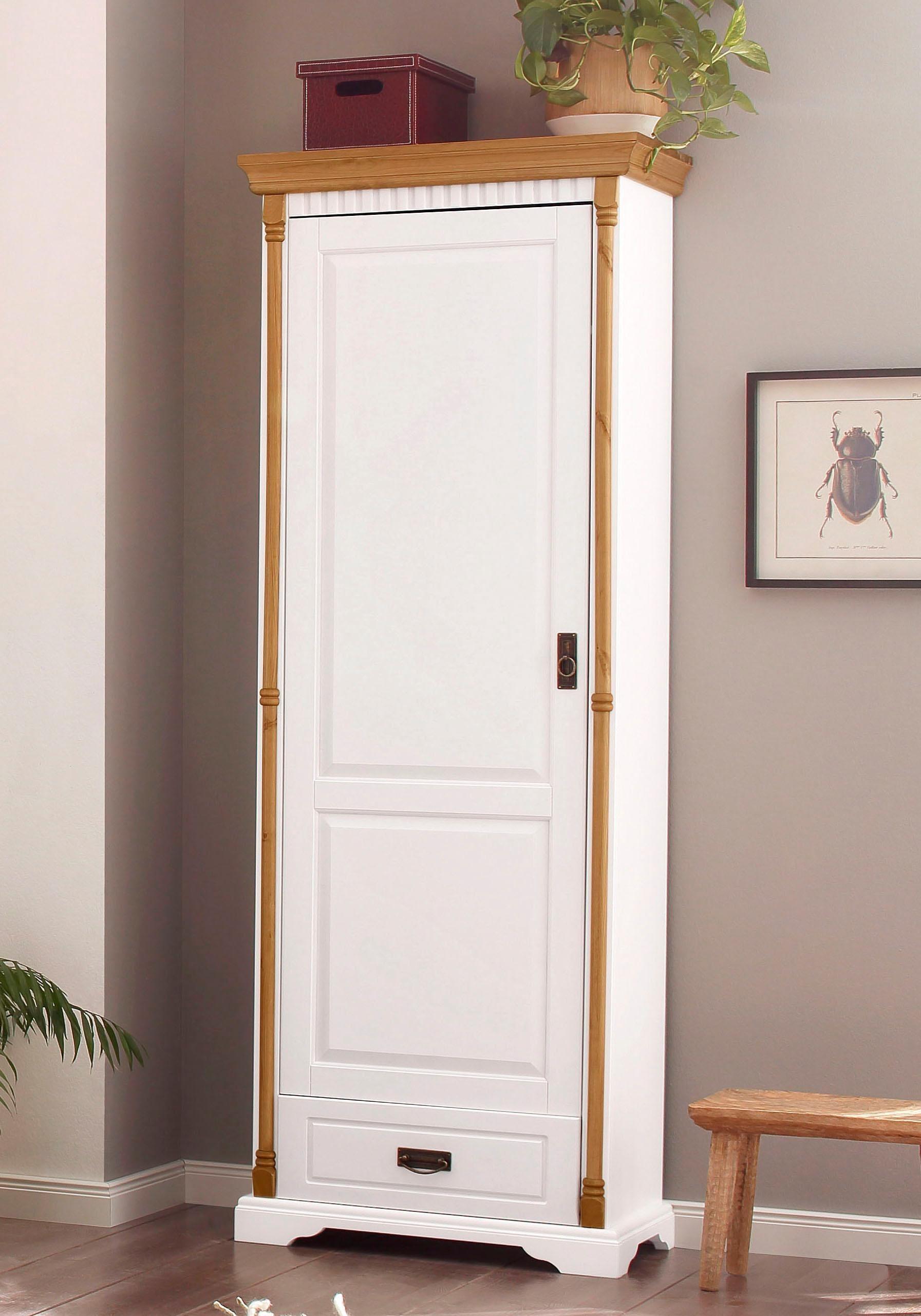 Home affaire Garderobenschrank «Graz», aus massiver Kiefer, Breite 72 cm | Flur & Diele > Garderoben > Garderobenschränke | Massiver | Home affaire