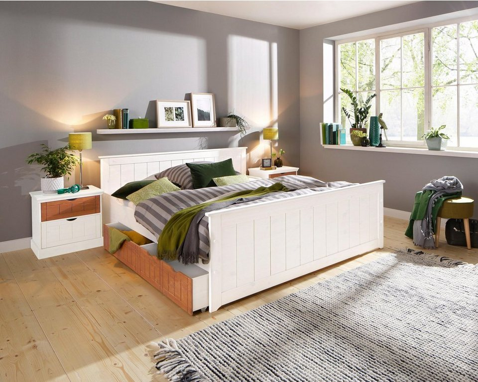 home affaire bett bristol in verschiedenen breiten inkl stauraum schubladen online kaufen. Black Bedroom Furniture Sets. Home Design Ideas