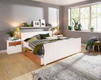 Einzelbett weiß mit schubladen  Stauraumbett online kaufen » Bett mit Regal | OTTO