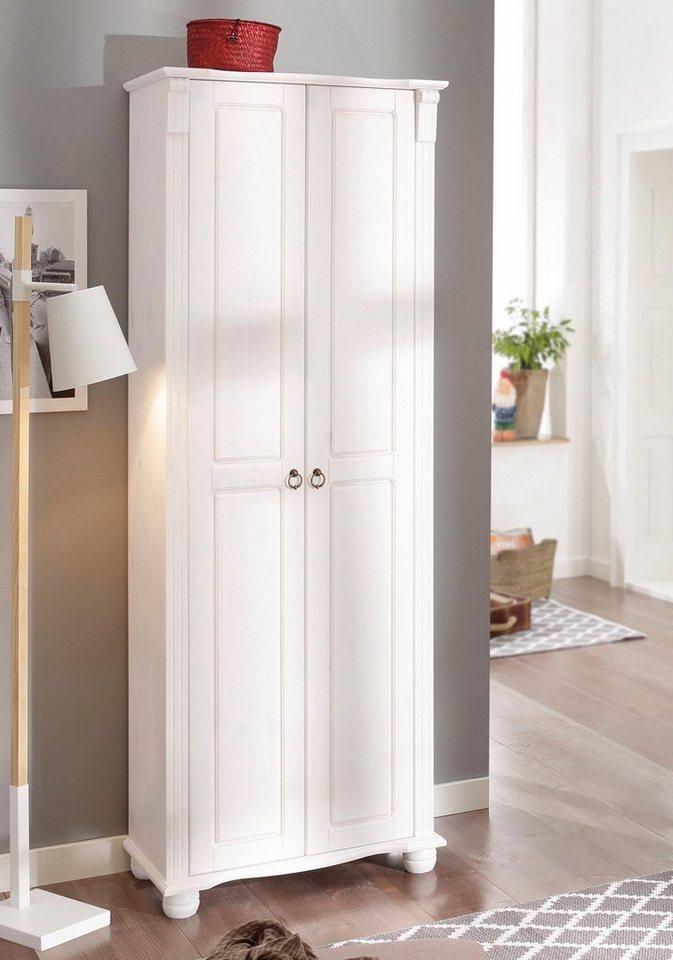 home affaire garderobenschrank florenz 67 cm breit aus On garderobenschrank 130 cm breit