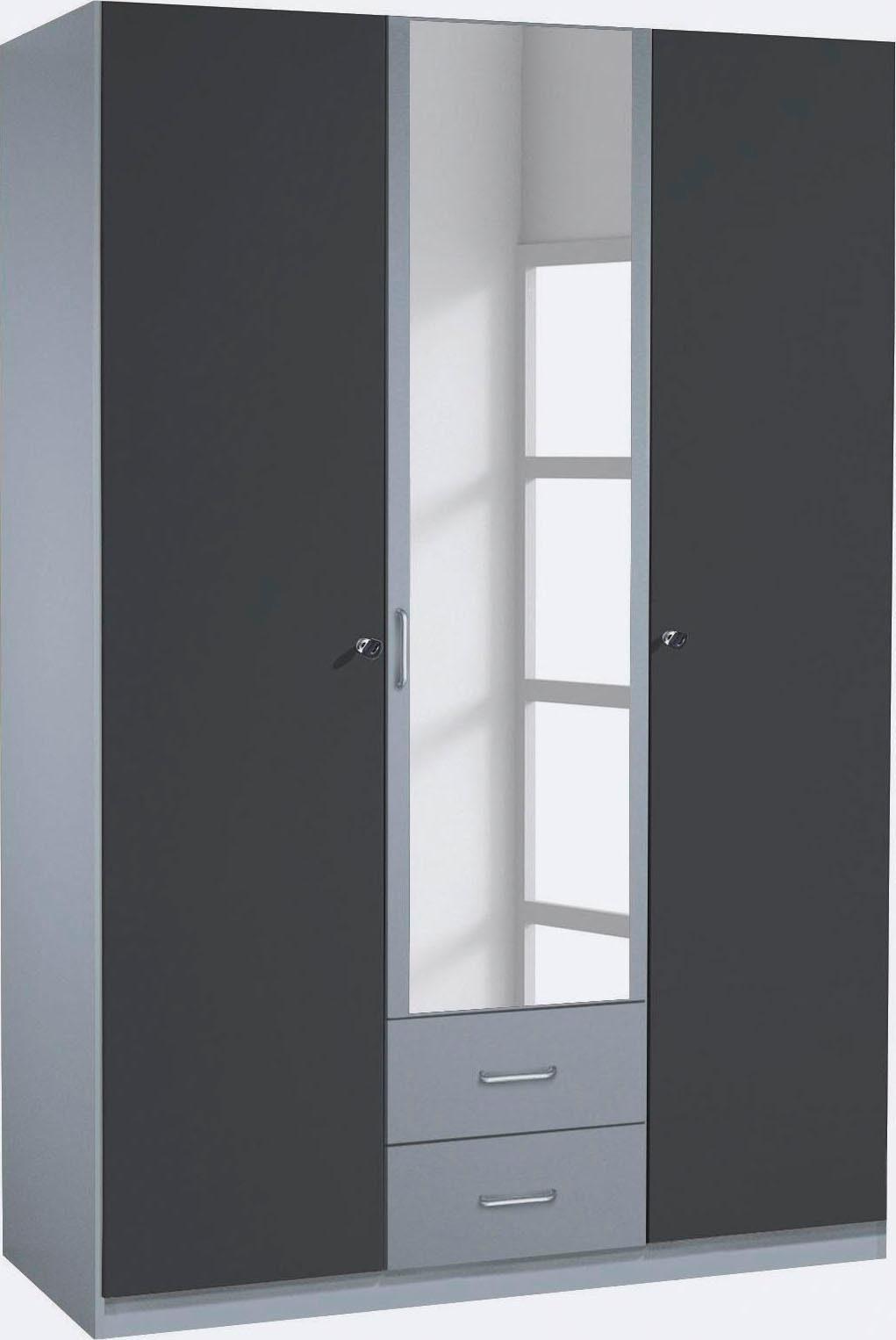 rauch PACK`S Kleiderschrank mit Spiegel und Schubkästen, Außentüren abschließbar