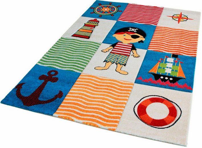 Kinderteppich »Rhapsody Kids1515«, Sanat, rechteckig, Höhe 13 mm, Seeräuber und Piraten Motiv