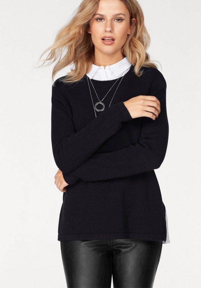 Damen Y.A.S  2-in-1-Pullover SARAH schwarz | 05713615678346