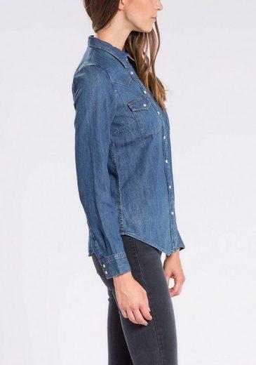 Levi's® Jeansbluse Modern Western, Klassische Hemdenform