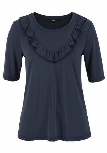 Vero Moda Rundhals Shirt Aria, With Small Ruffle