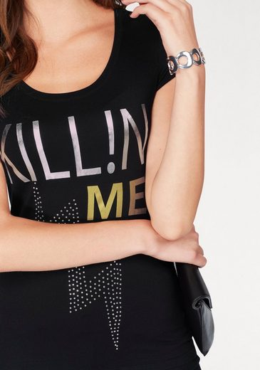 Melrose Rundhalsshirt, mit coolem Schriftzug