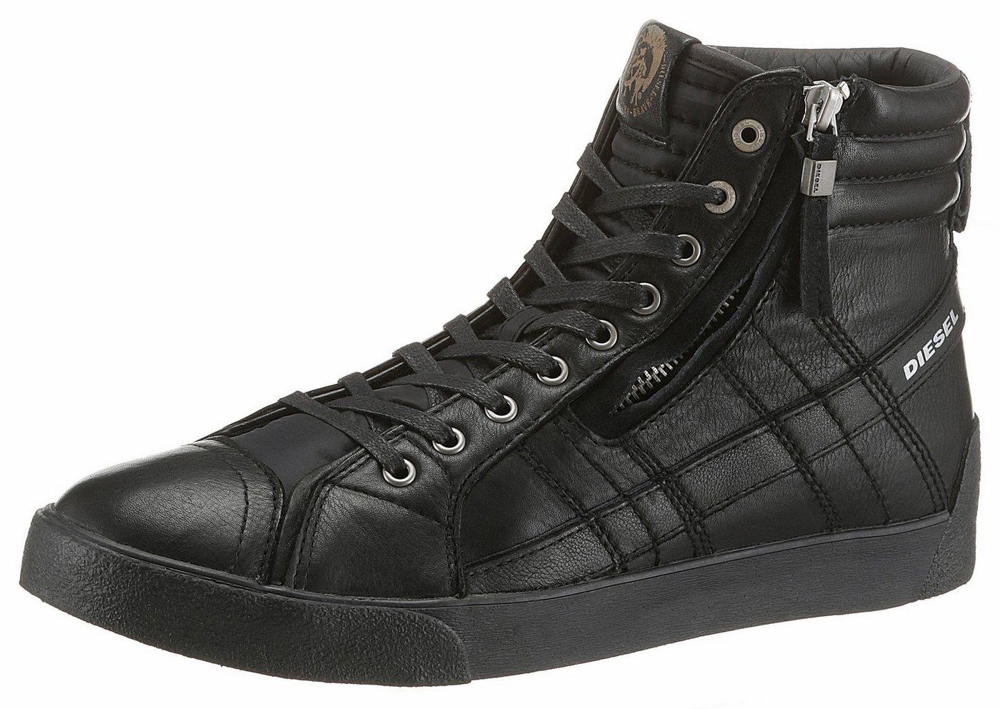 diesel -  »D-String Plus« Sneaker mit kurzem Außenreißverschluss