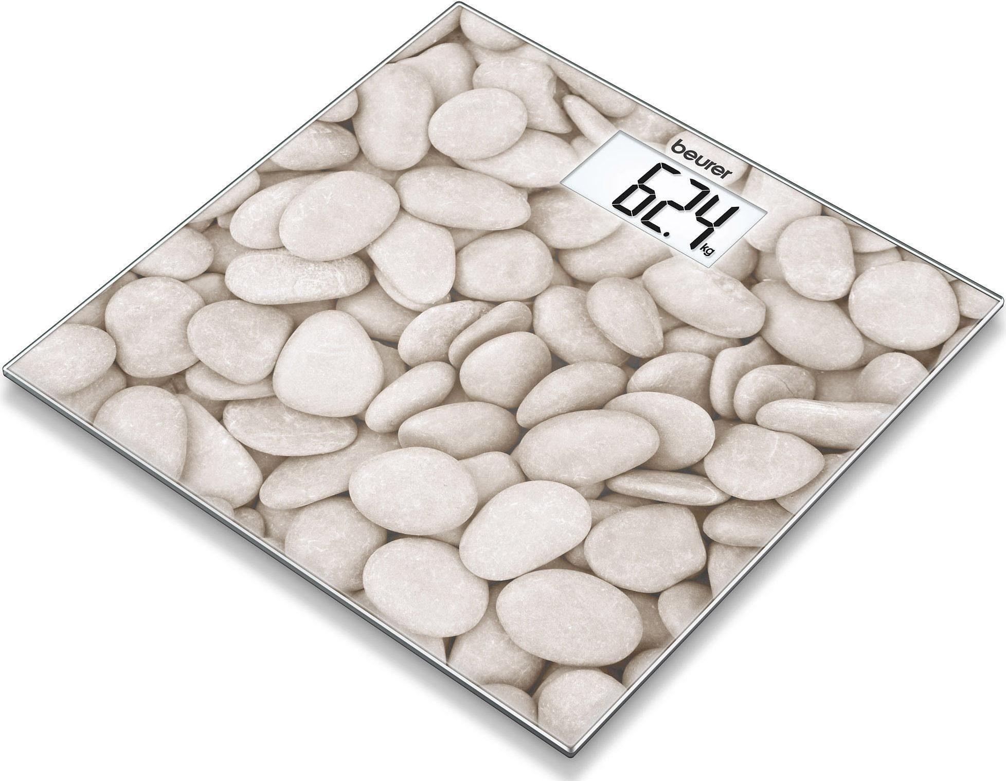 Beurer Glaswaage GS 203 stone, Trittfläche Fotomotiv in Steinoptik