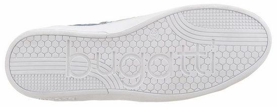 Sneaker Bugatti, Avec Gaufrage De Reptiles En Métal