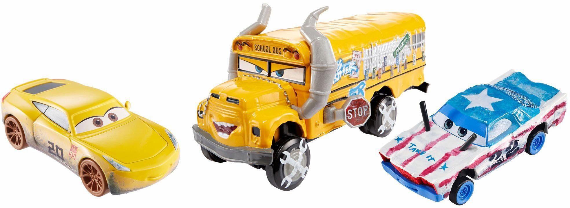 Mattel Spielzeugautoset, »Disney Cars 3 Die-Cast Cruz Ramirez, Cigalert, Miss Fritter«