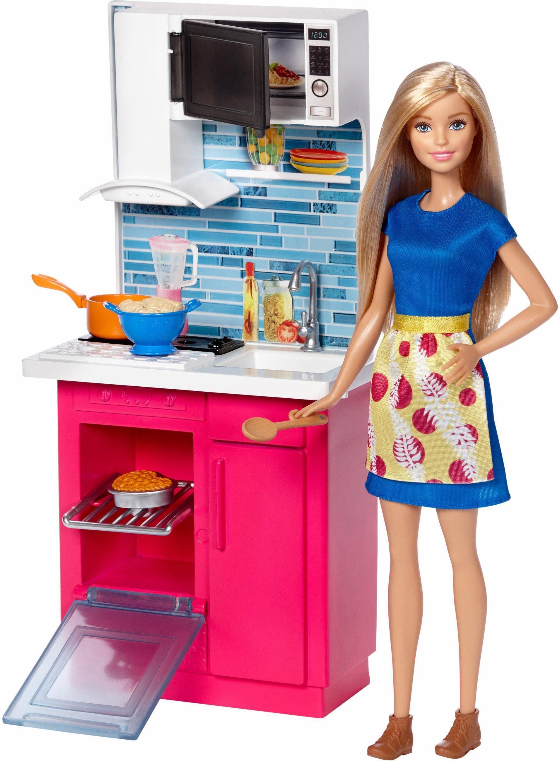Mattel Einrichtung für Puppenhaus, »Barbie, Küche & Puppe«