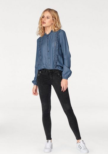 Only Jeansbluse AMY, mit Rüschen