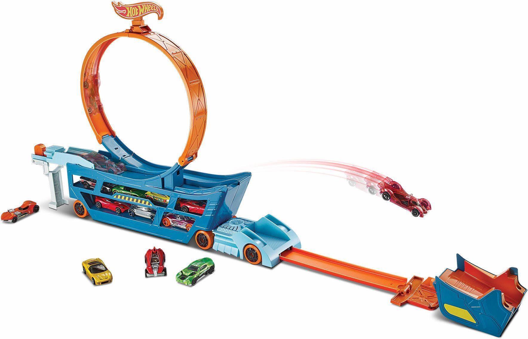 Mattel Spielset, »Hot Wheels® Stunt N Go Transporter & Trackset«