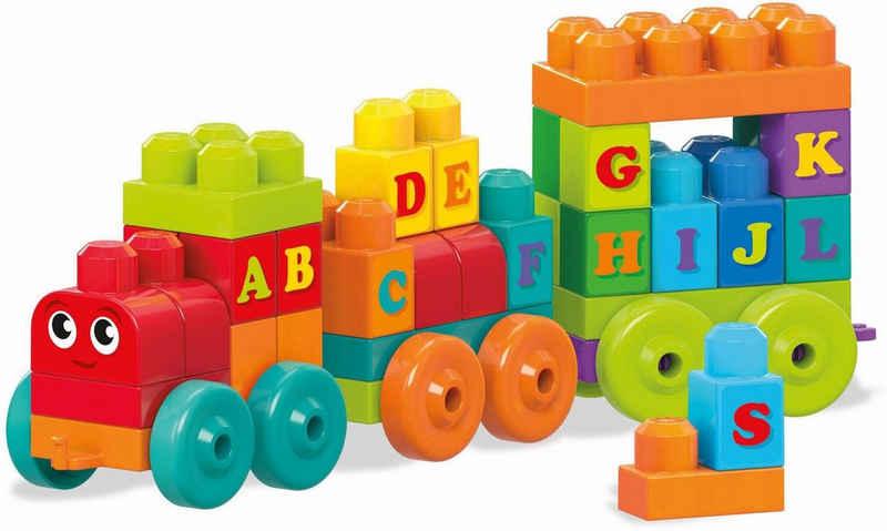 MEGA BLOKS Spielbausteine »Mega Bloks ABC Lernzug«, (60 St)