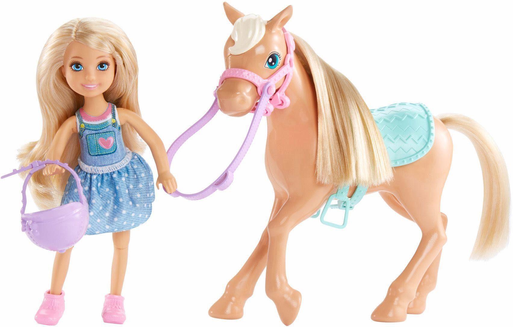 Mattel Puppe mit Pferd, »Barbie, Chelsea und Pony«