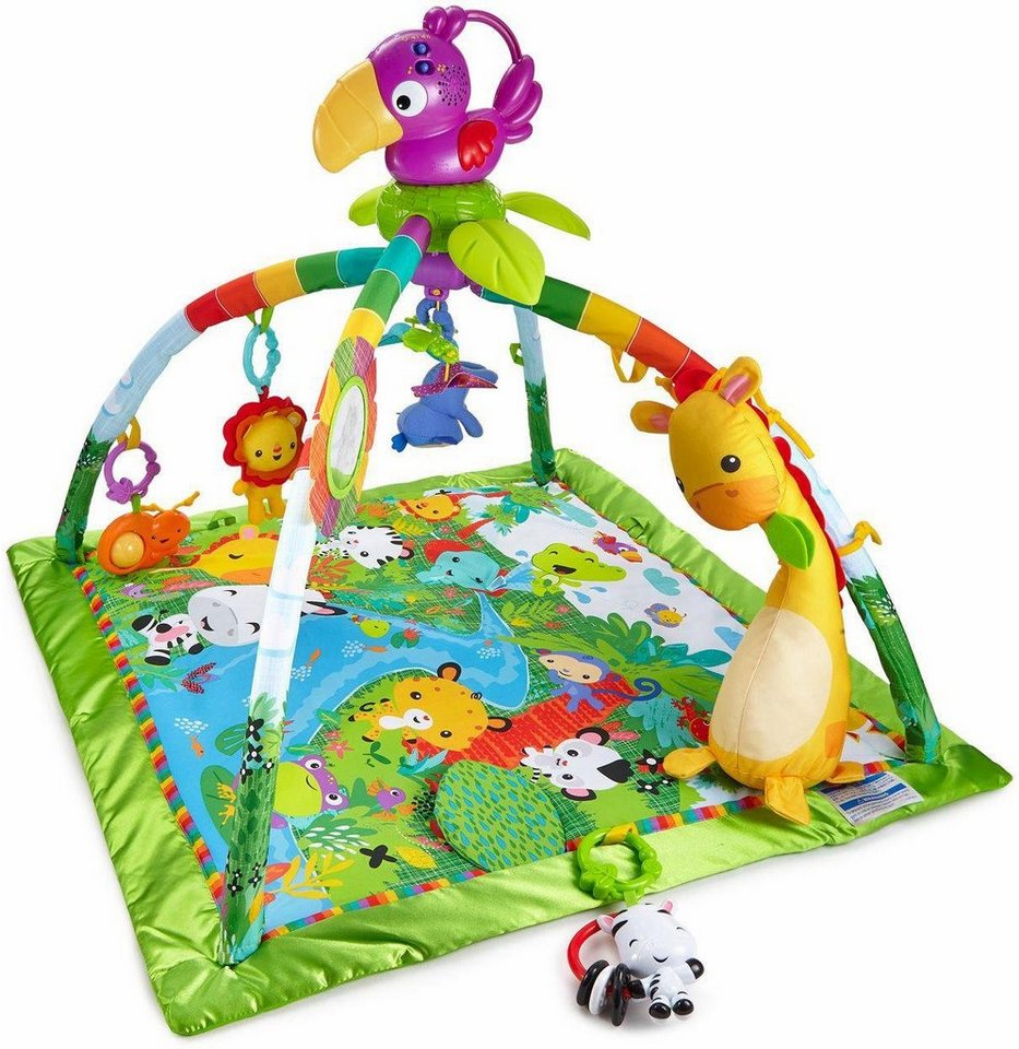 fisher price spieldecke mit spielbogen rainforest erlebnisdecke online kaufen otto. Black Bedroom Furniture Sets. Home Design Ideas