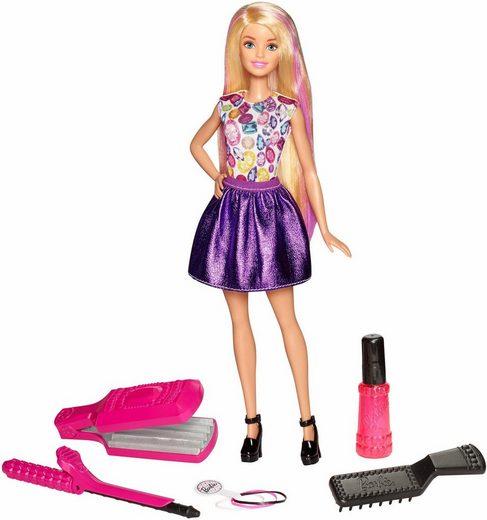Mattel® Anziehpuppe »Barbie, Wellen- und Lockenspaß« (Set, 9-tlg)