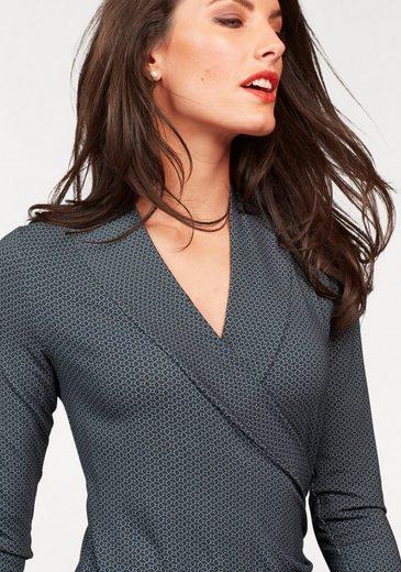 Vivance Jersey Dress In Sophisticated Optics Wrap