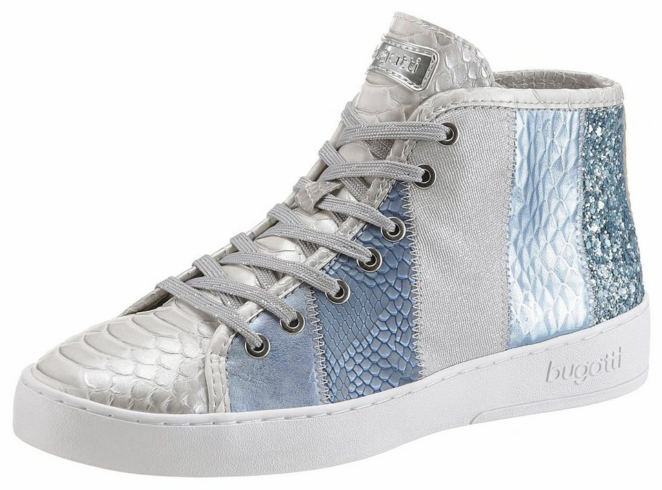 ecc8d89de1e9a8 bugatti Sneaker mit Reptilienprägung in Metallic-Optik online kaufen ...