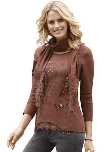 Ambria Longshirt aus reiner Baumwolle