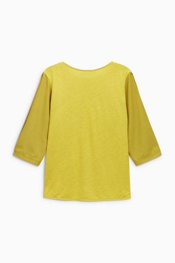 Next T-Shirt mit geschlitzten Ärmeln