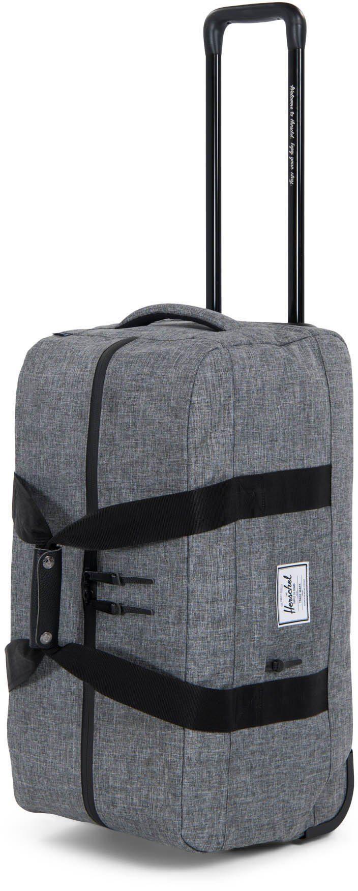 Herschel Trolley Reisetasche mit 2 Rollen »Wheelie Outfitter, Raven Crosshatch«