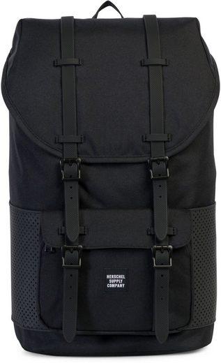 herschel rucksack mit laptopfach little america black rubber online kaufen otto. Black Bedroom Furniture Sets. Home Design Ideas