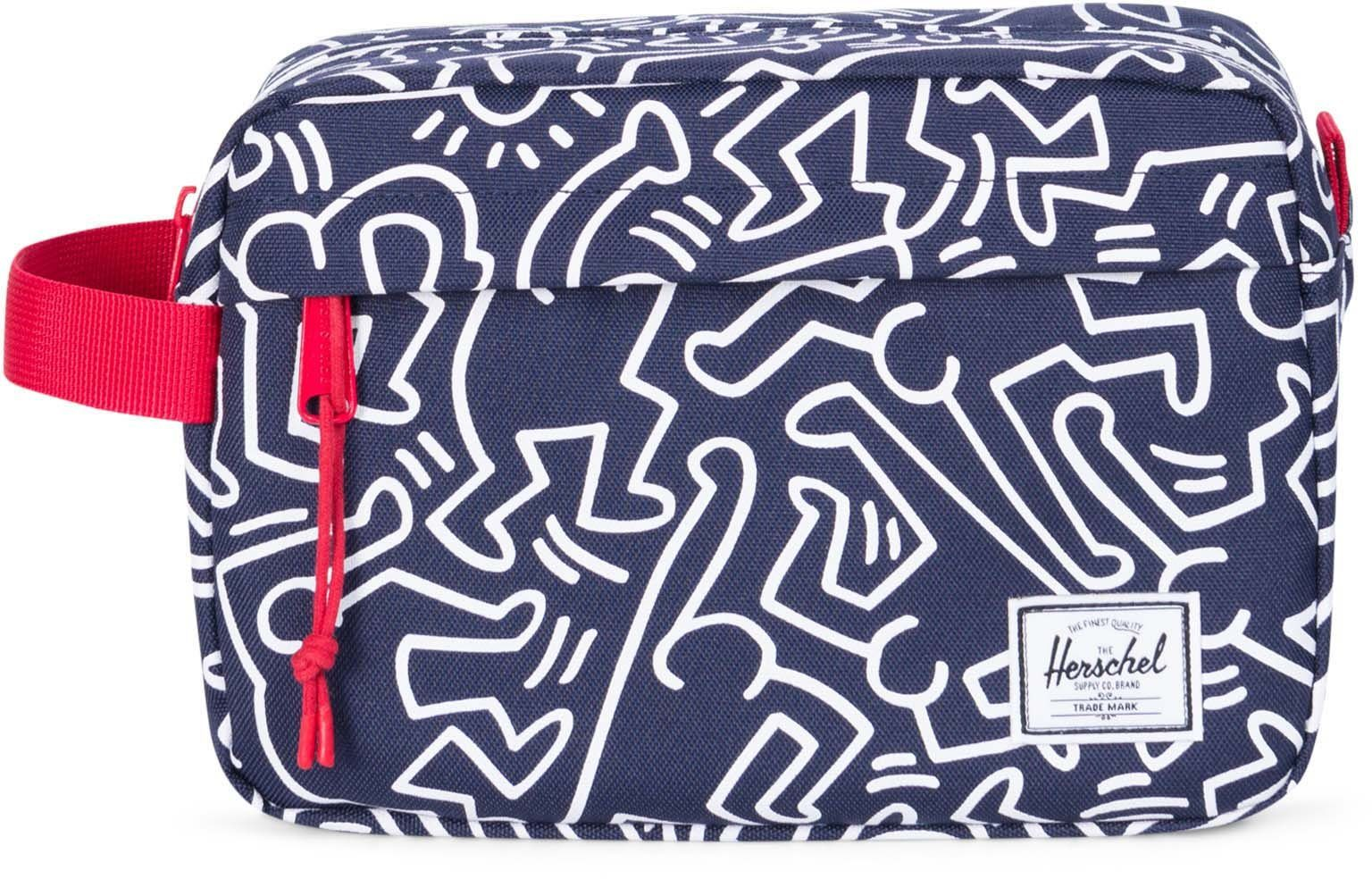 Herschel Kulturbeutel, »Chapter Travel Kit, Peacoat Keith Haring«