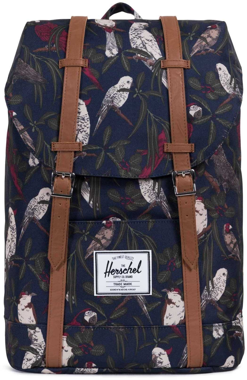 Herschel Rucksack mit Laptopfach, »Retreat, Peacoat Parlour/Tan«