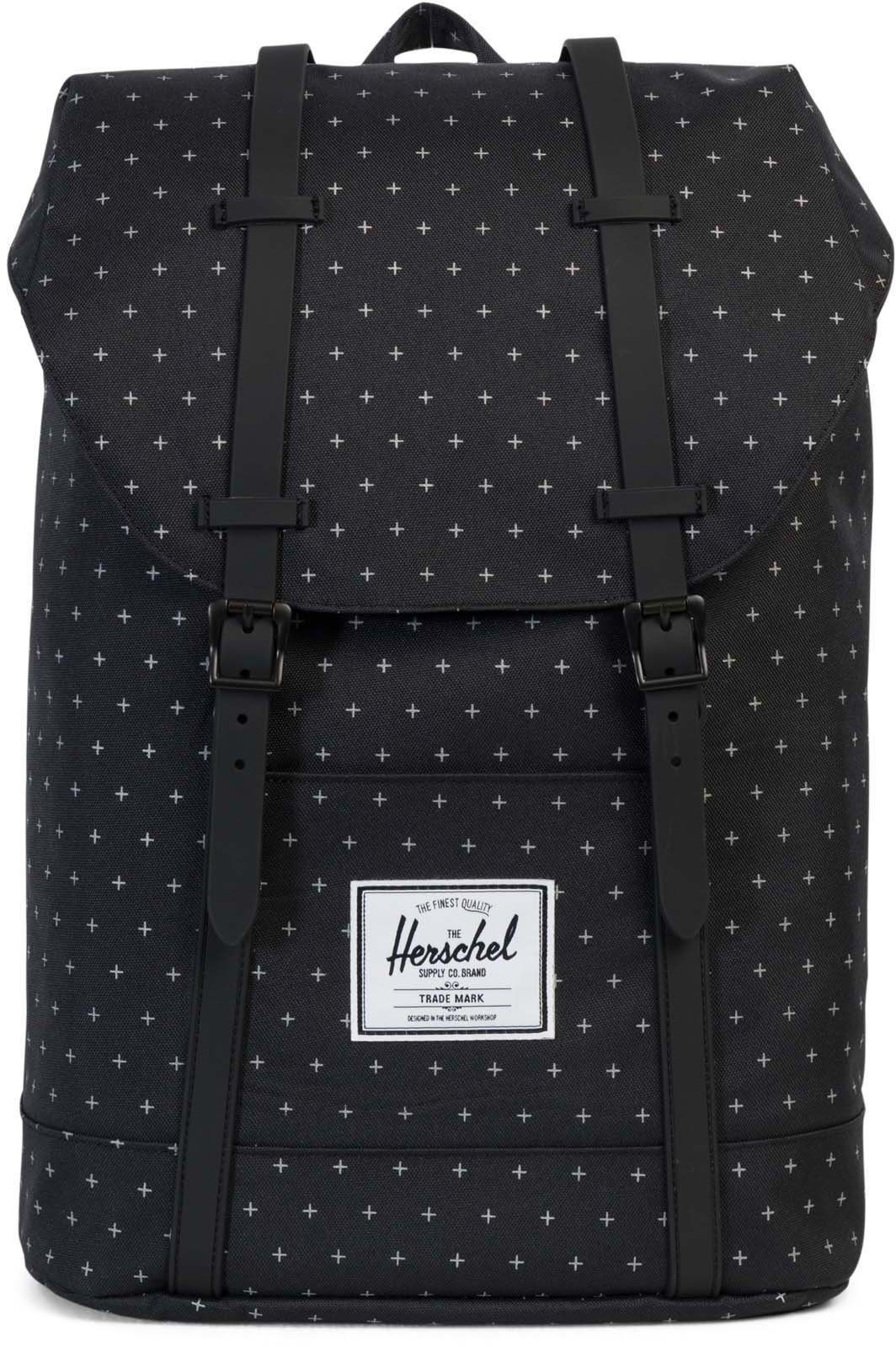 Herschel Rucksack mit Laptopfach, »Retreat Black Gridlock«