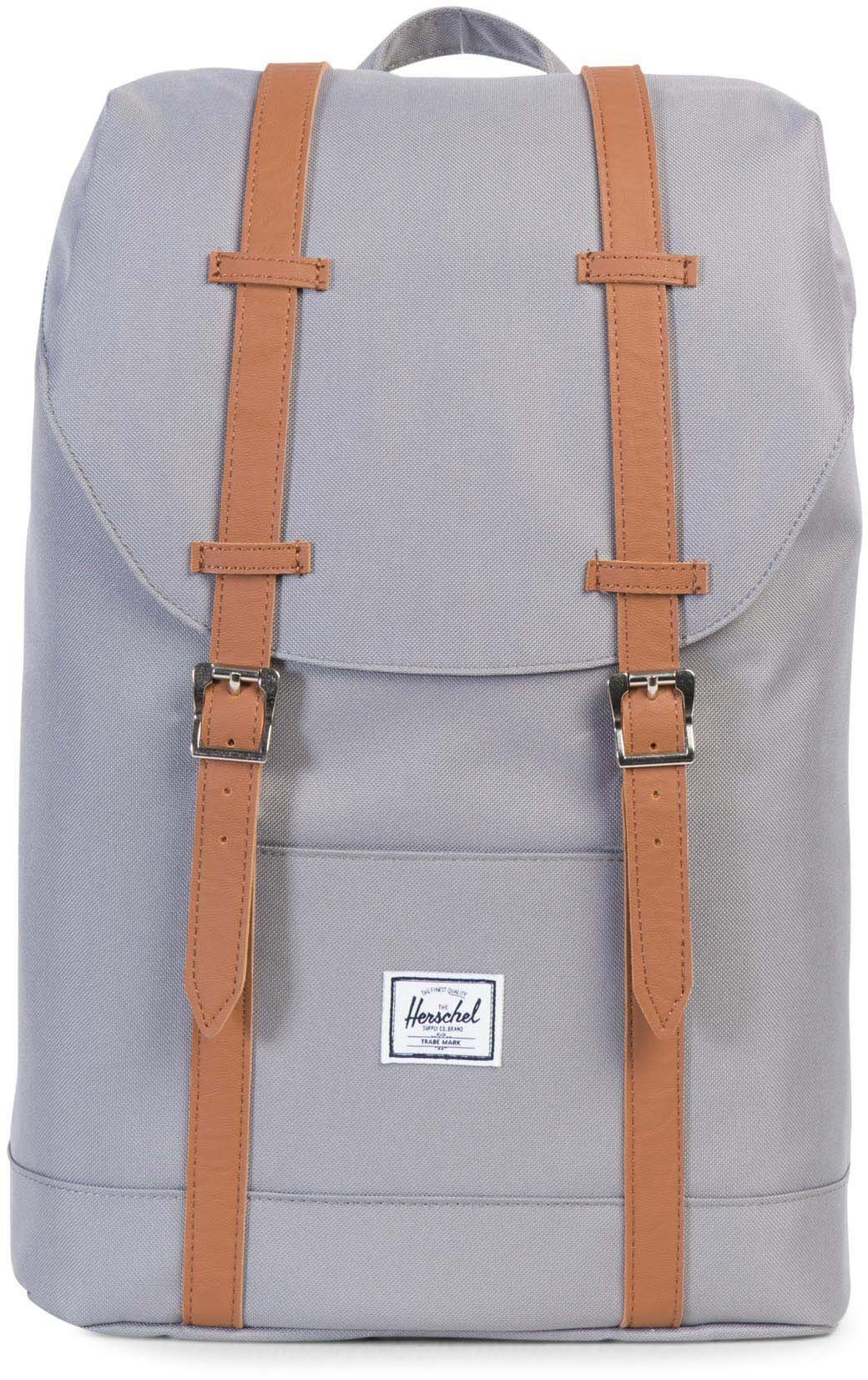 Herschel Rucksack mit Laptopfach, »Retreat, Grey/Tan, Mid Volume«