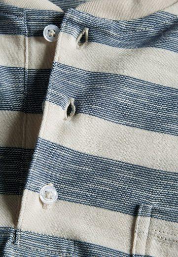 Next Gestreiftes T-Shirt mit Knopfleiste