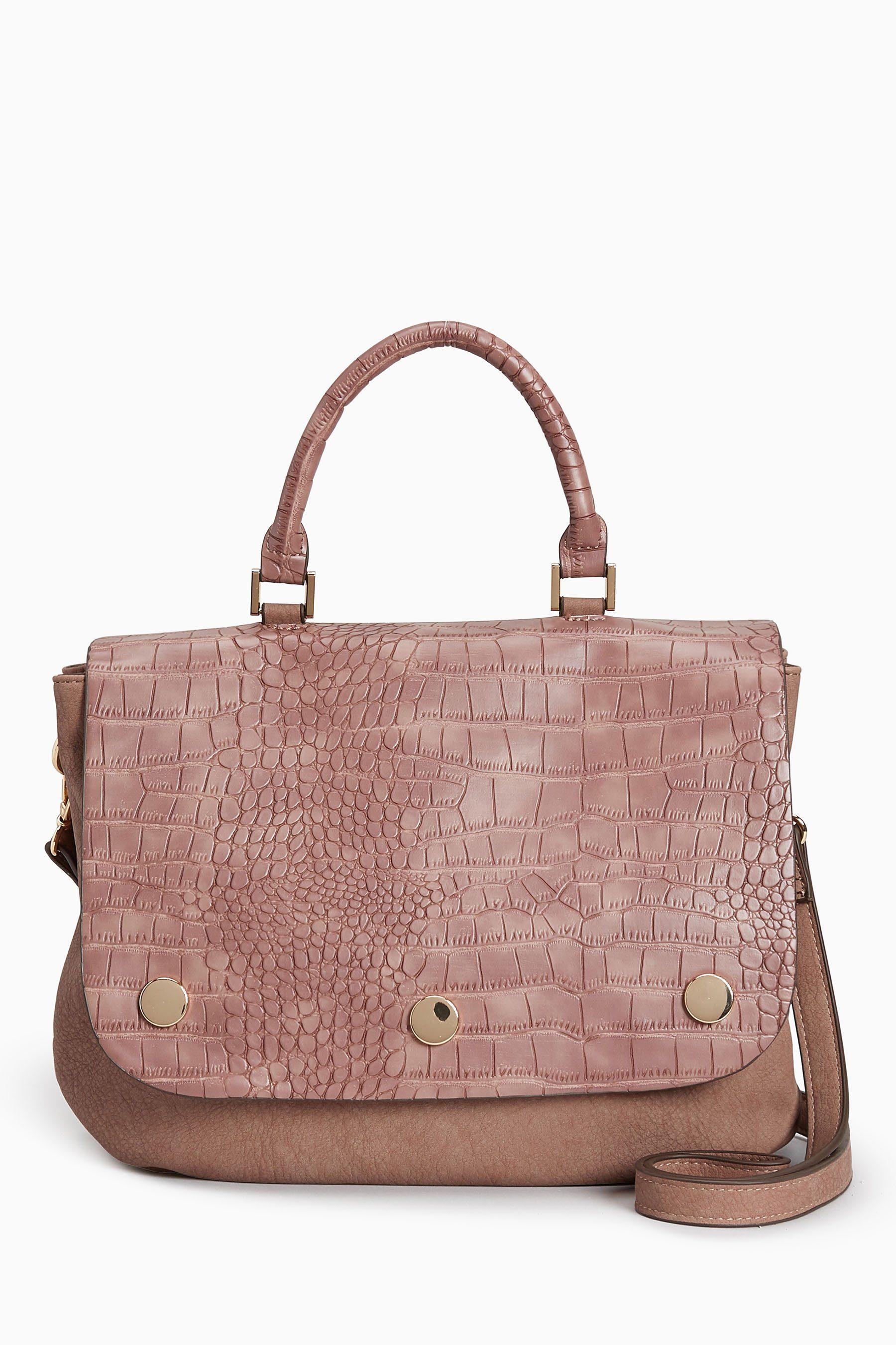 Next Handtasche in Kroko-Optik