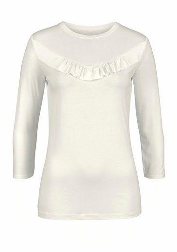 Cheer 3/4-Arm-Shirt, mit Rüschenverzierung
