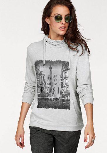 Aniston Kapuzensweatshirt, mit silberfarbenem Schriftzug