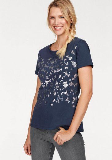 Cheer T-Shirt, mit silberfarbenem Druck